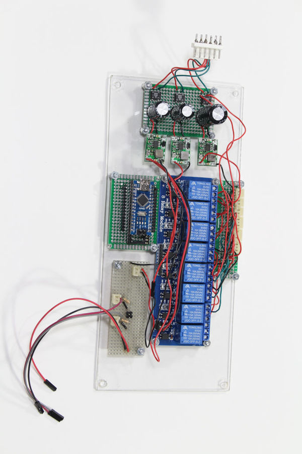 Arduino on breadboard with usb