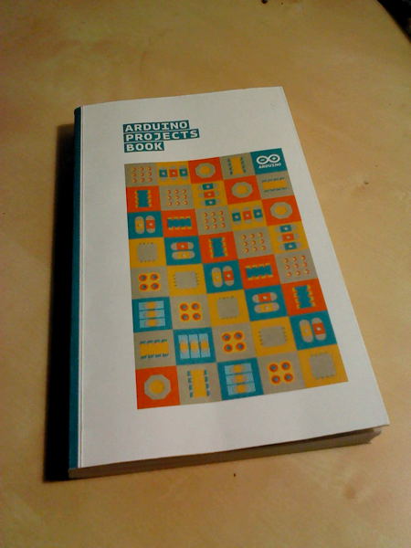 The book for the Arduino Starter kit